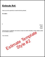 Free Estimate Template #2  Free Estimates Templates